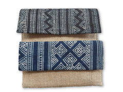 Batik and Hemp Clutch