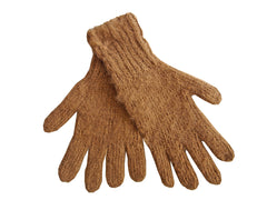 Quispe Alpaca Gloves Unisex Toffee - The PachaMama Project