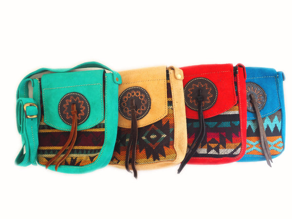 Otavalo Suede Cross Body Bag