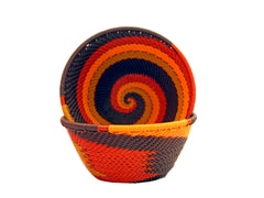 Zulu Medium Wire Basket African Sunset - The PachaMama Project
