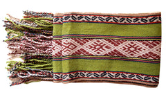 handwoven alpaca wool scarf from ethically sourced from Peru