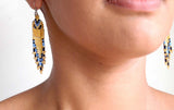 Zanele Blue Beaded Earrings - The PachaMama Project