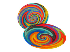 Zulu Shallow Wire Bowl Rainbow* - The PachaMama Project