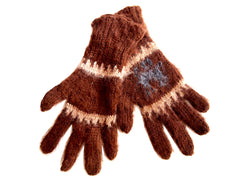 Quispe Alpaca Gloves Unisex Brown/Grey