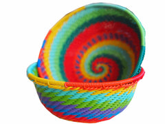 Zulu Small Wire Basket Rainbow* - The PachaMama Project