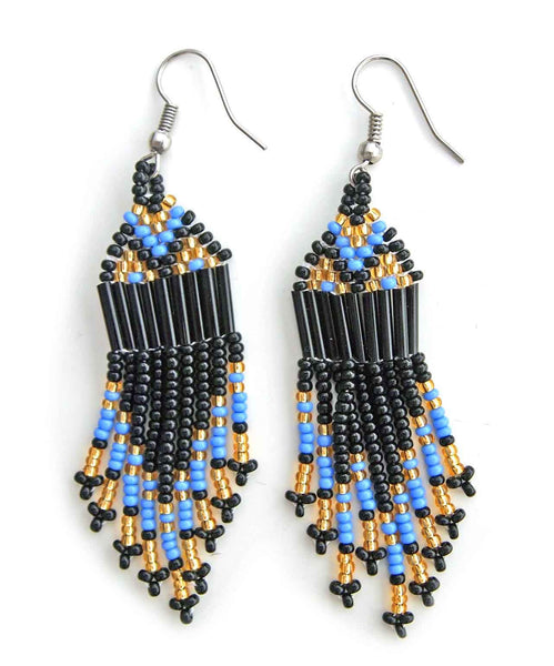 Zanele Blue Beaded Earrings