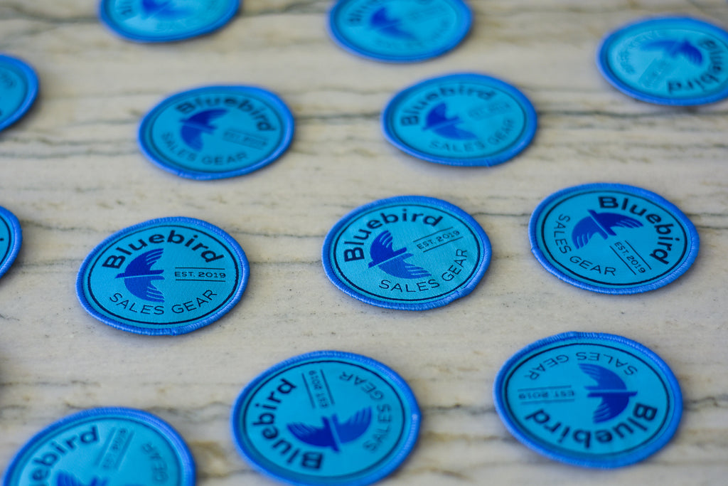 Bluebird Logo Iron On Patch