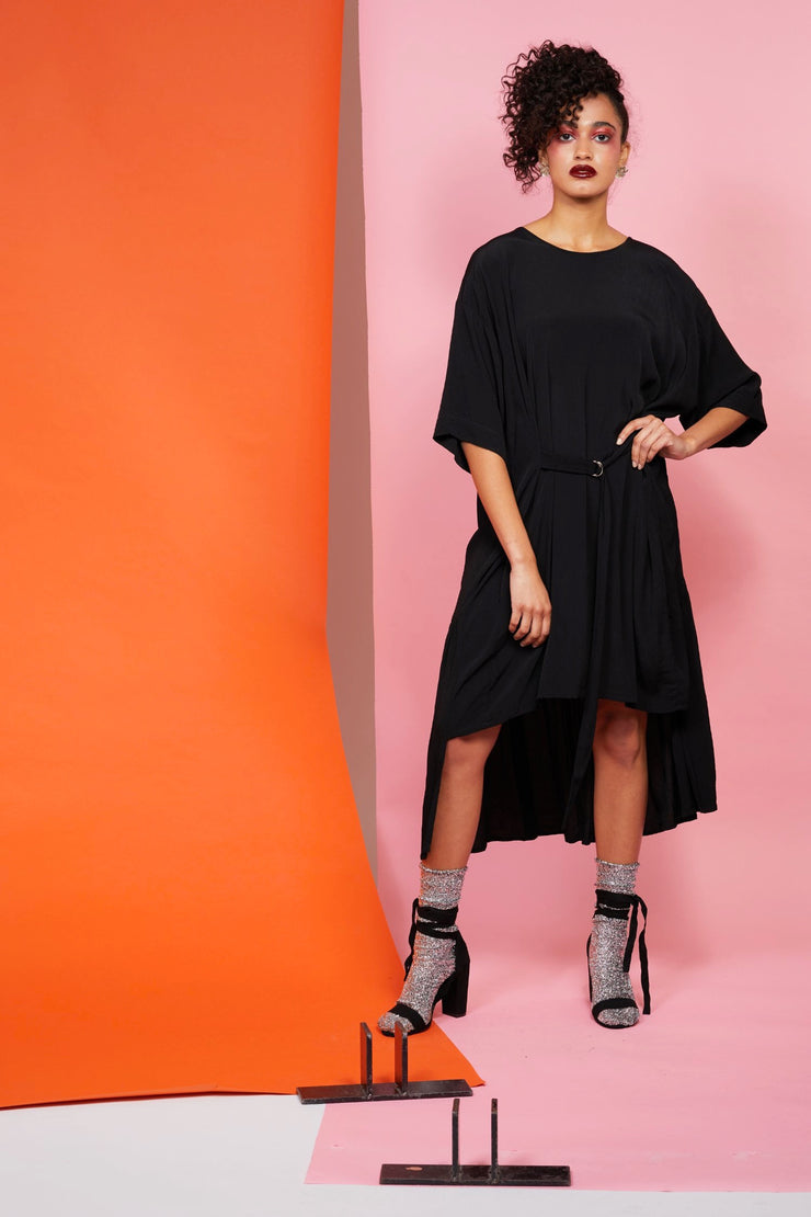 Flounce Dress - Black or Slate