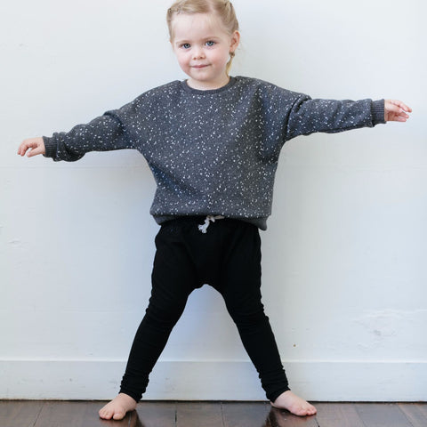 Drop Crotch Pant with Embroidery 1-4Y