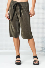 Dive Shorts - Moss Pleat