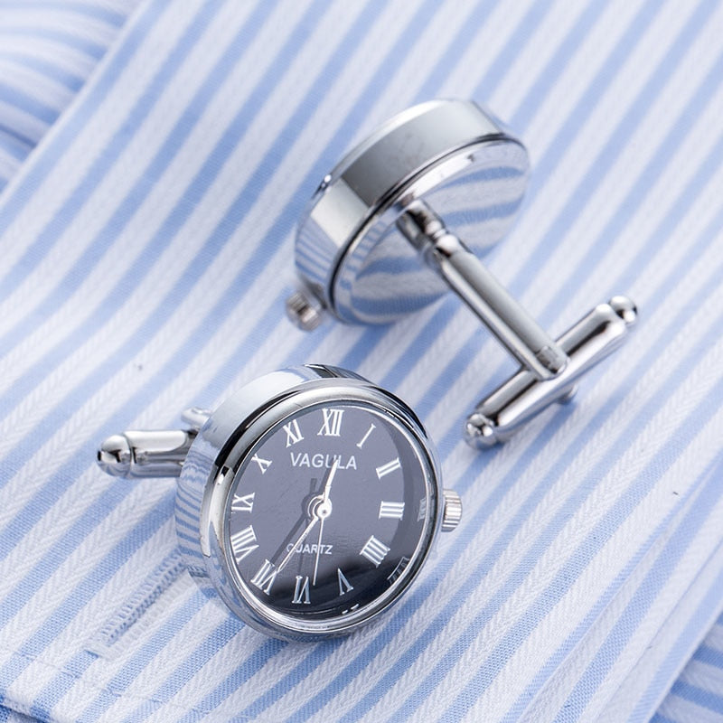 Functional Watch Cufflinks - Round I