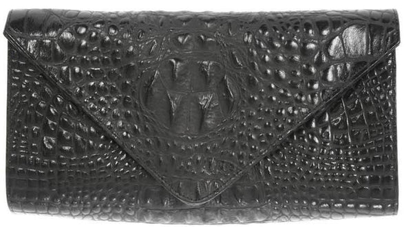 Hilary Clutch Black Croco