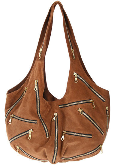 Halle Tote Rust Suede