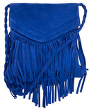 Jane Messenger Electric Blue Suede