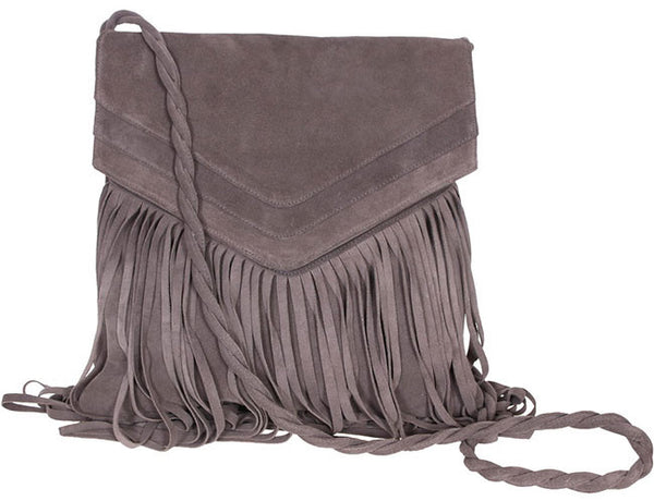 Jane Messenger Elephant Suede