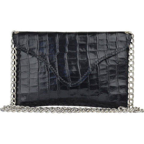 Miley Black Alligator Crossbody
