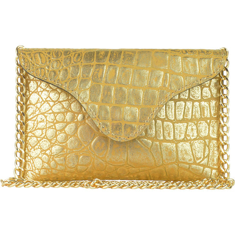 Miley Gold Croco Crossbody