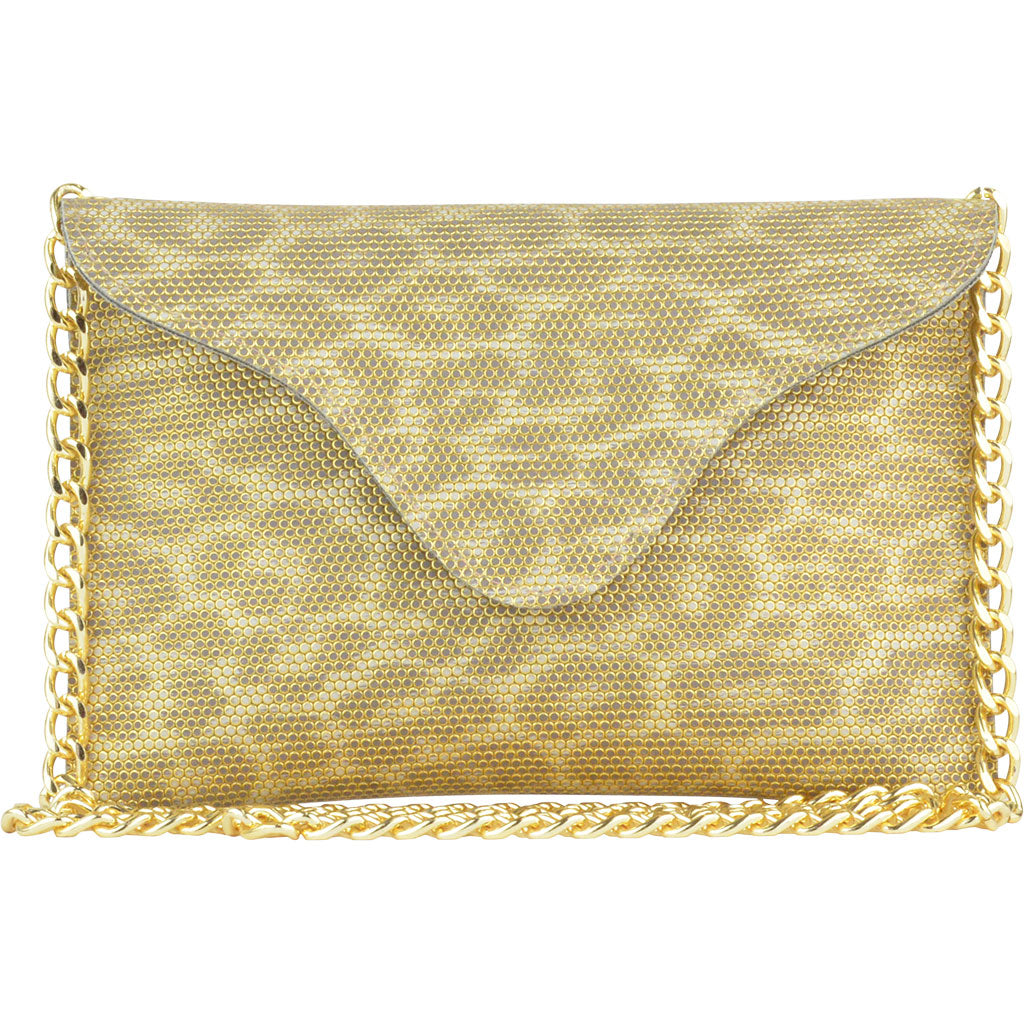 Miley Gold Leopard Crossbody