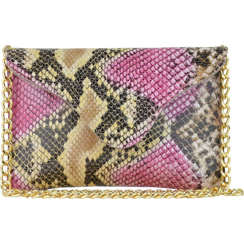 Miley Tropical Pink Snake Crossbody