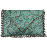 Brooke Crossbody Turquoise Floral