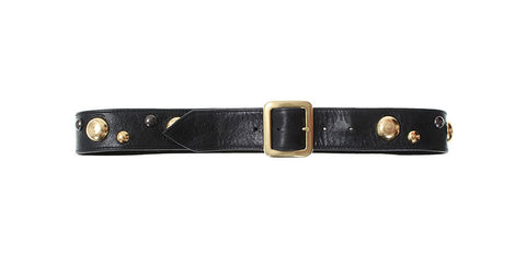Jules Belt Black Distressed Leather