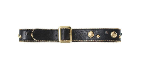 Jaden Belt Black Distressed Leather