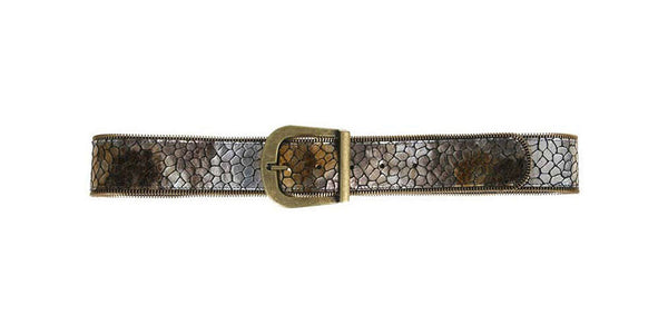 Josie Belt Silver/Gold Turtle