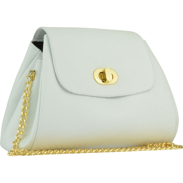 Taylor Crossbody White Leather