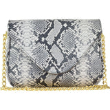 Hannah Crossbody Black/White Python