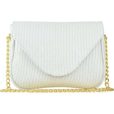 Hannah Crossbody White Mini Croco