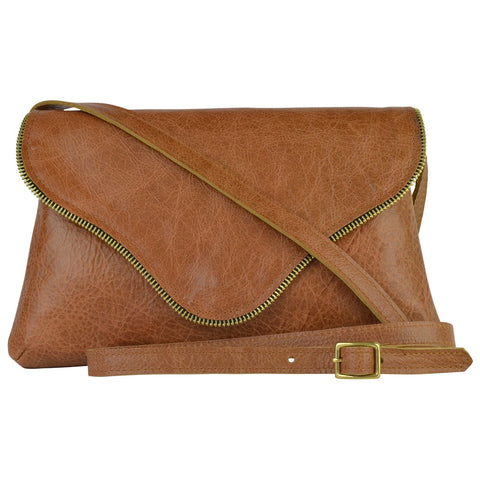 Camilla Crossbody Honey Leather