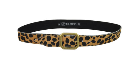 Kylie Cheetah Belt Cheetah Calf Hair