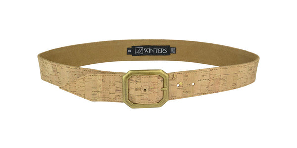Kylie Cork Belt Gold Cork