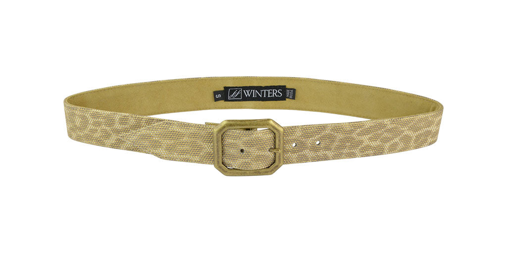 Kylie Leopard Belt Gold