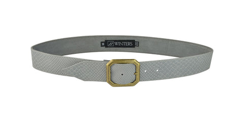 Kylie Snake Belt Light Grey Boa