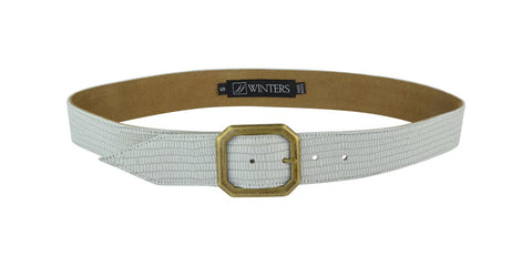 Kylie Croco Belt White Mini Croco