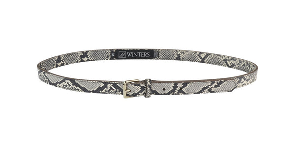 Abby Belt Black/White Python