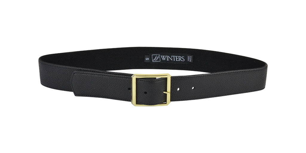 Cori Leather Belt Black Lamba