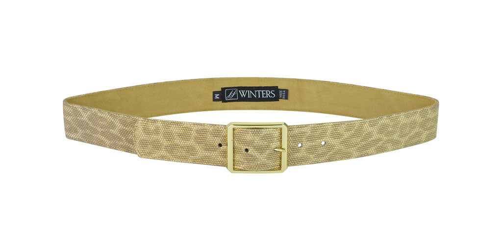 Cori Gold Leopard Belt