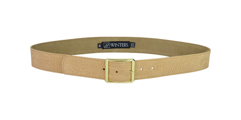 Cori Croco Belt Latte Hornback