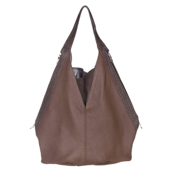 Jamie Tote Taupe Leather