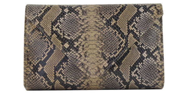 Hilary Medium Clutch Diamond Python