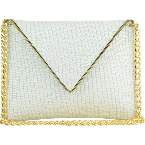 Andi Crossbody White Mini Croco