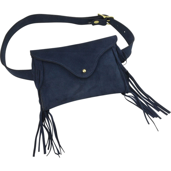 Frankie Belt Bag Navy Suede