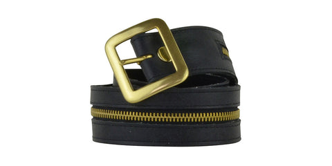 Blaine Belt Black Distressed Leather