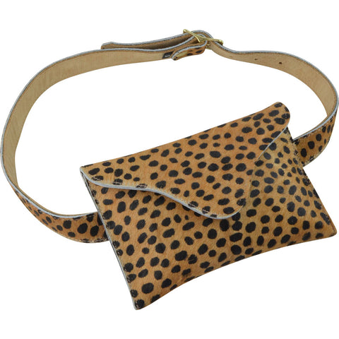 Bowie Belt Bag Mini Leopard Calf Hair