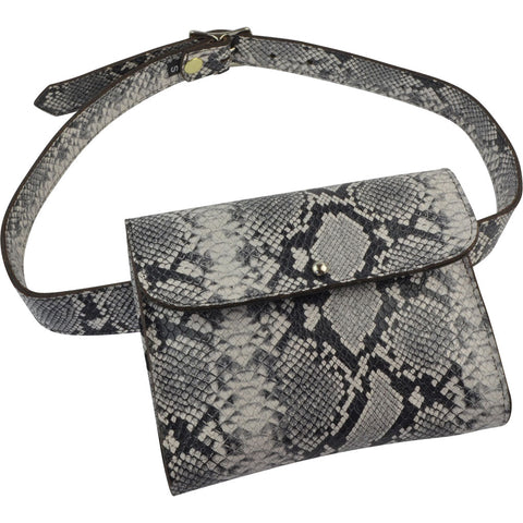 Beverly Belt Bag Black/White Python