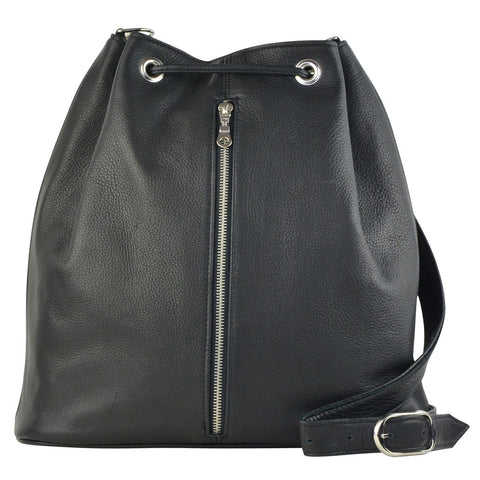 Cleo Convertible Backpack Black Lamba