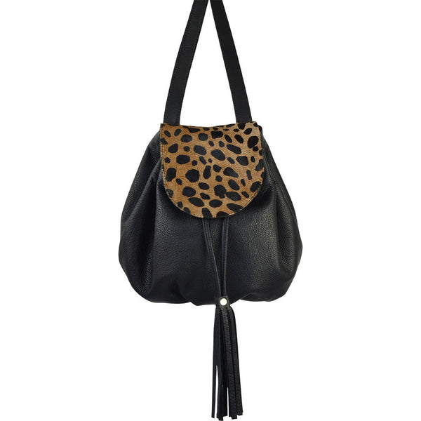 Cody Animal Print Backpack Cheetah Calf Hair/Black Lamba