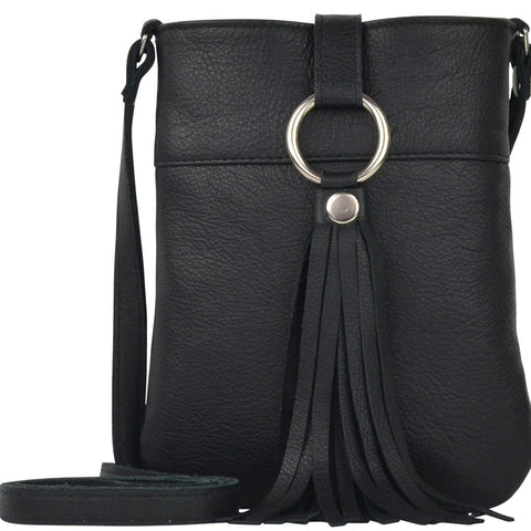 Daisy Crossbody Black Lamba